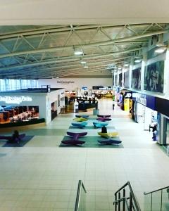 Empty airport terminal. So incredibly quiet!
