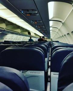 Flight was less than a quarter full.